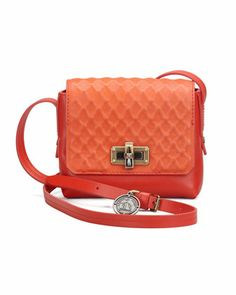 Edgy Happy Crossbody Bag, Red by Lanvin.