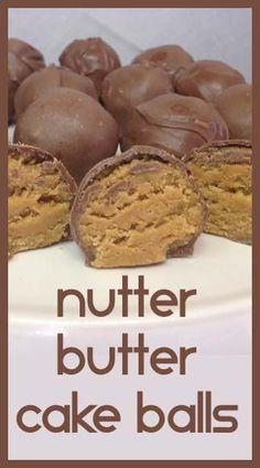 Nutter Butter Cake Balls- Easy & Good