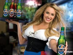 How to dress like a St Pauli Girl and make your own homemade DIY St Pauli Girl Costume as seen in the famous beer advertisments. St Pauli Girl Beer, Oktoberfest Costume, Beer Girl, Red Mini Skirt, Girl Posters, Girls Blouse, Celebrity Wallpapers, Beautiful Women Pictures, Girl Costumes