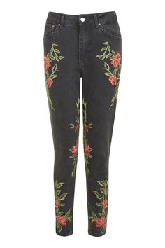 Embroidered jeans from TopShop, $110.