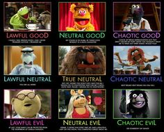 Muppets RPG moral alignment ;P