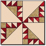 Another sawtooth pinwheel. Barn Quilt Patterns, Pattern Blocks, Quilting Patterns, Quilting Tutorials, Quilting Tips, Pinwheel Quilt, Civil War Quilts, Foundation Paper Piecing, Barn Quilts
