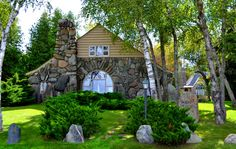 Earl Young's famous Boulder Manor in Charlevoix, Michigan is up for sale!
