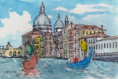 Venice Canale Grande Italy art print from an original by AndreVoyy, $15.00