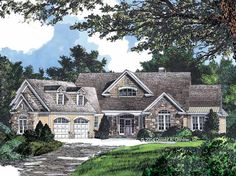 Craftsman House Plan with 2663 Square Feet and 4 Bedrooms from Dream Home Source   House Plan Code DHSW52764