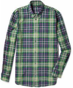 f5b3e7179b3 Marc by Marc Jacobs Horton Plaid Cotton Shirt - ShopStyle