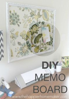 Upcycle an old frame into a DIY Memo Board for your living room.