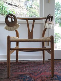 natural oak wishbone chair