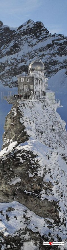 Jungfraujoch Top of Europe. Photo Jungfrau.ch, adapted to Pinterest by iLoveSwissMade.com
