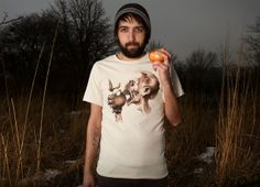"""Vegetarian Zombie"" - Threadless.com - Best t-shirts in the world"