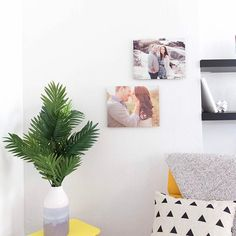 Refresh your space and put those engagement photos to good use! Metal prints offer decor versatility in any room. #diydecor    #Regram via @mixbook