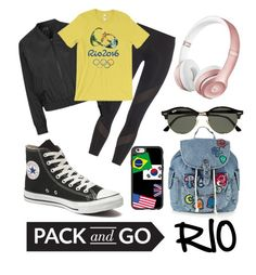 """""""Let me take you to Rio, Rio!"""" by robmarcia ❤ liked on Polyvore featuring adidas, Topshop, Beats by Dr. Dre, Casetify, Ray-Ban and Converse"""