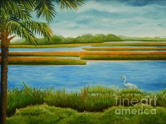Title:  Kiawah Marsh   Artist:  Shelia Kempf   Medium:  Painting - Oil On Canvas