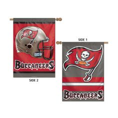 Tampa Bay Buccaneers NFL Premium 2 Sided Vertical Flag 28x40