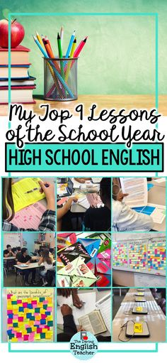 My favorite high school English lessons and activities for the school year. From rhetorical analysis and close reading to engaging classroom activities and hands-on ELA projects, here's a look at my favorite lessons and activities from the year. #highschoolELA #highschoolEnglish