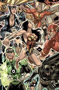 The DC Universe // artwork by Mike Miller and Rex Lokus (2012)