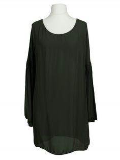 Damen Tunika Bluse Chiffon, oliv von Made in Italy bei www.meinkleidchen.de