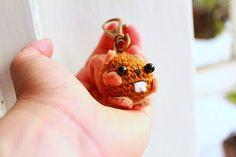 Amigurumi Squirrel keychain crochet pattern   The Sun and the Turtle - DIY Amigurumi crochet patterns and beanies