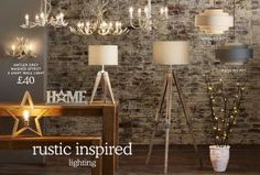 Fill your home with tranquil lighting from our collection. Indoor & outdoor lighting options to beautifully illuminate your space. Next day delivery & free returns available. Bedside Desk Lamps, Tripod Table Lamp, Wall Lights, Ceiling Lights, Lighting Solutions, Home Furniture, Lighting Accessories, Home Decor, Appliques