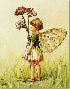 Cicely Mary Barker - Flower Fairies of the Spring - The Daisy Fairy Painting