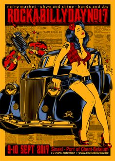 Final version poster Rockabillyday #17 - Belgium...2017 !!!