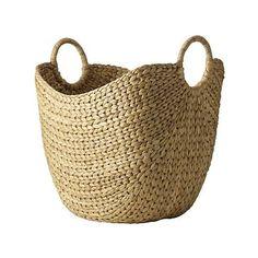 Curved Basket, Large, Natural