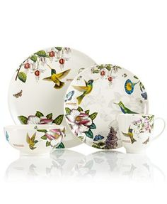 CLOSEOUT! Portmeirion Dinnerware, Botanic Hummingbird Collection