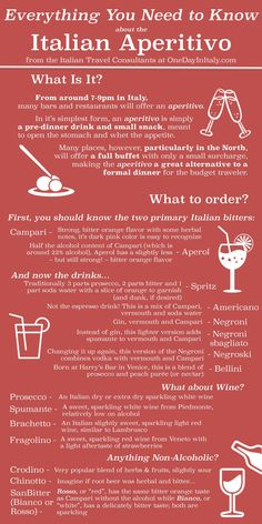 Everything You Need to Know about the Italian Aperitivo | One Day In Italy (Travel Blog) Let me help you plan your dream trip! www.OneDayInIaly.com/plan-your-trip