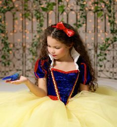 Click here to shop Snow White Disney Inspired Princess Gown Tutu Costume Dress by Ella Dynae, $270.00