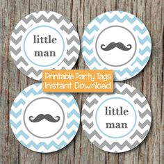 Mustache Baby Shower Little Man Party Baby Shower by BumpAndBeyondDesigns, $4.00