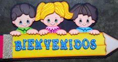 ... Class Door Decorations, Class Decoration, School Plan, Pre School, Water Drop Vector, Family Child Care, School Doors, Girl Cartoon, Childcare