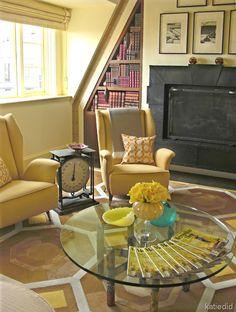 Living Room Ideas / Kyle Bunting Hide Rug #brown #yellow