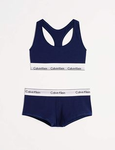Calvin Klein Women's Modern Cotton Bralette and Boyshort Set Womens Bralette, Calvin Klein Bralette, Cotton Bralette, Triangle Bra, Calvin Klein Women, Piece Of Clothing, Bikini Set, Fashion Brands, One Piece