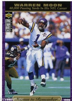 RARE 1996 UPPER DECK CC SEASON TO REMEMBER WARREN MOON MINNESOTA VIKINGS MINT