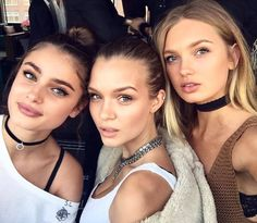 Tailor Marie Hill, Josephine Skriver, and Magda Frackowiak (March 2016 -- girls night out).