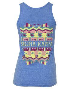 adamblockdesign: Sigma Kappa Summer Tribal Tankby ABD