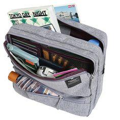 Women Men Unisex Outdoor Large Capacity Functional Shoulder Bag Crossbody Bag
