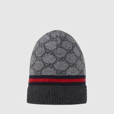 Gucci GG pattern hat with web detail