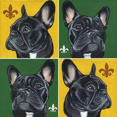 French Bulldog , Frenchie , Jeroen teunen , Teunen , dog painting , pet portrait