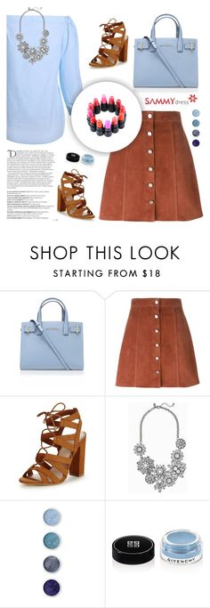 """""""Sammydress"""" by sabinakopic ❤ liked on Polyvore featuring Kurt Geiger, Theory, Balmain, Lipsy, Terre Mère and Givenchy"""