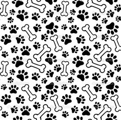 Dog Print Wallpaper dog cream timeless treasures fabric with funny paw prints