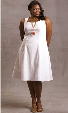 Plus size white dress cocktail | Nice