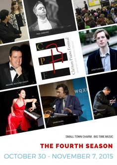 """http://triangleartsandentertainment.org/wp-content/uploads/2015/10/CPF-2015-Season-Brochure-page-1-e1444247195390.jpg - Clayton Piano Festival announces its Fourth Season October 30 – November 7 -  """"Taking high art off of the top shelf"""" has been the central mission of Clayton Piano Festival from its beginning in 2011. Since then, the festival has presented fun, family-oriented outreach shows, innovative classes for local music students and accessible, festive concert pe"""