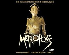 Robot Mask from the film Metropolis: A golden mask from the Golden age of Cinema. When Brigitte Helm strode onto the screen of Fritz Langs