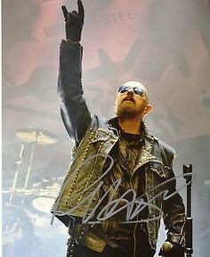 rob halford judas priest photos | Rob Halford Judas Priest Signed Autographed 8x10 Photo 2 | eBay