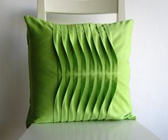 Items similar to Pleated Light Green 16 X 16 Cotton Cushion Cover on Etsy Gold Decorative Pillows, Gold Throw Pillows, Diy Pillows, Diy Pillow Covers, Pillow Cover Design, Diy Pallet Wall, Boho Cushions, Diy Cushion, Fabric Manipulation