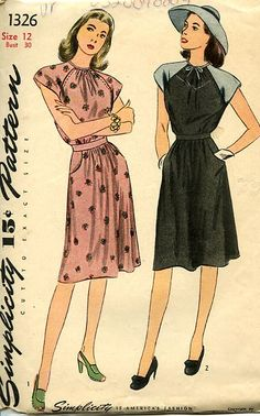 40s Day dress - oh, the 40's