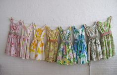 Lovely dresses made from recycled vintage bedsheets.