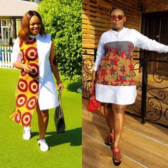 1 or 2 guys? Proudly African ⚪️❤️💛 the versatility of Africanprint is why we love it 😍😍 repping Pics African Fashion Designers, African Fashion Ankara, Latest African Fashion Dresses, African Print Fashion, African Wear Dresses, African Attire, African Print Dress Designs, Trendy Ankara Styles, African Traditional Dresses