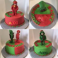 flash and arrow birthday cake